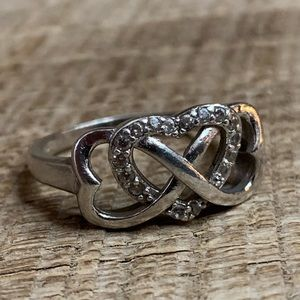 Jewelry - 925 Sterling Silver Infinity Hearts Ring